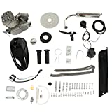 PEXMOR 2-Stroke 80cc Bicycle Motor Kit Motorized Bike Cycle Gasoline Petrol Gas Engine Refit Kit, Super Fuel-efficient for Bicycle Scooter (80cc (Silver))