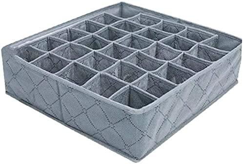 ChocoLife Schubladeneinteiler aus Bambuskohle, faltbar, 2 Packungen, 30 Zellen, faltbar, Schrank-Organizer, Unterwäsche, Aufbewahrungsboxen für Socken, Unterwäsche, Höschen