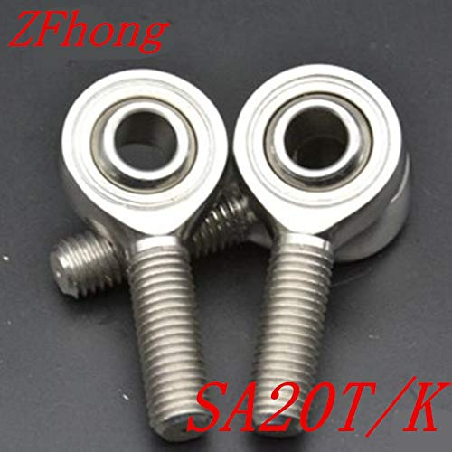 Ochoos 1pc Sa20t/k 20mm m20x1.5 Stainless Steel Right Hand Male Thread Rod end Bearing
