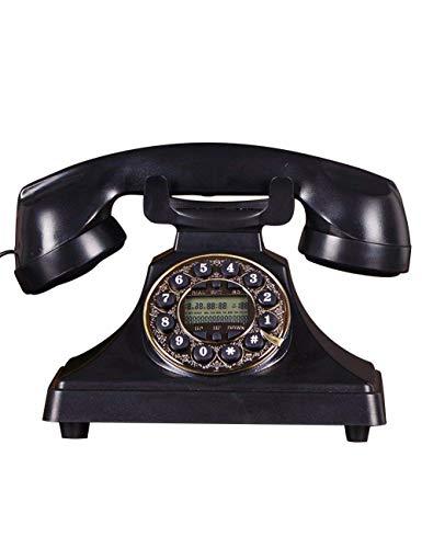 FHISD Teléfono Antiguo, teléfono Fijo para el hogar, teléfono Retro MoKreative, teléfonos rotativos Antiguos para decoración del hogar, teléfono, Disco Giratorio, Antiguo teléfono Fijo para el Hog