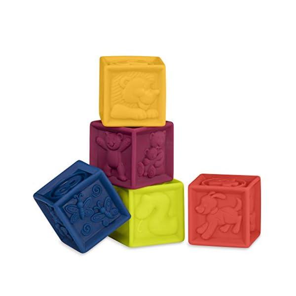 Battat B. toys – One Two Squeeze Blocks – Bloques de construcción para niños – Juguetes educativos para bebés de 6 meses…