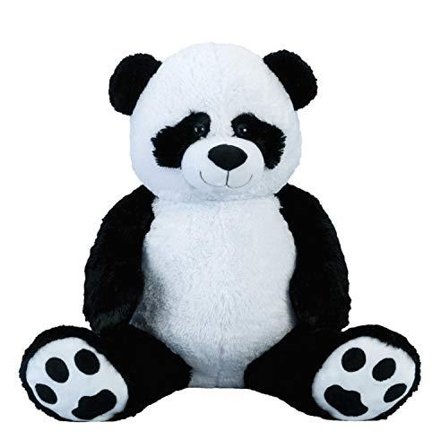 Lifestyle & More Ours en Peluche géant Panda XXL 100 cm de Haut velouté Doux - à Aimer