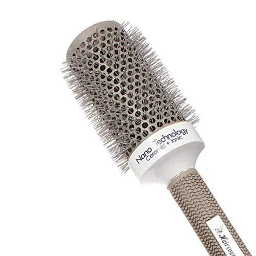 Cepillo para el cabello de 6 tamaños Nano Cepillo para el cabello Cerámica térmica Ion Barril redondo Peine Peluquería Estilismo Secado Rizado, 53 mm