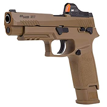 Sig Sauer M17 P320 ASP CO2 .177 Pellet Air Pistol with Included Sig Sauer Airgun Red Dot Optic Reflex Sight Bundle