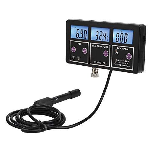 PH Meter, PH-117 Multiparameter Tester Di Qualità Dell'Acqua, PH Test Strumento Di Monitoraggio Online Test Per Acquario, Laboratorio, Test Alimentari(220V EU)