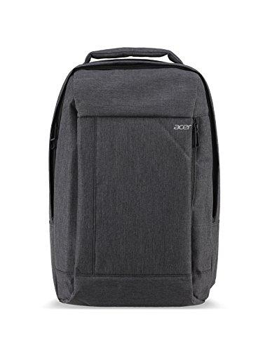 Acer Travel Backpack / Rucksack (für bis zu 15,6 Zoll (39,62 cm) Notebooks, seperates Notebookfach, wasserabweisend, verstellbare Tragegurte) grau