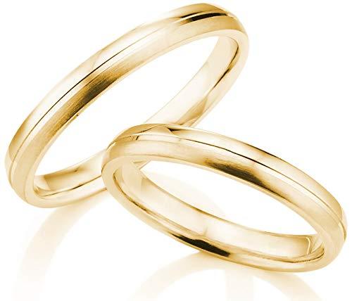Zarte Trauringe/Eheringe/Gelbgold 333 / in Juwelier-Qualität (Gravur/Ringmaßband/Etui/ohne Stein) von 123traumringe