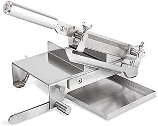 Hanchen 手動スライサー 0~20mmスライス 250mmブレード 漢方薬の材料/もち/熟肉/冷凍肉/フルーツ ステンレス鋼製 家庭用 業務用 卓上型