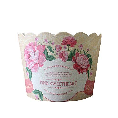 Beiersi 24 pcs Moule en Papier pour Muffins Caissettes Cupcake Caissette Muffins Moule Gateau