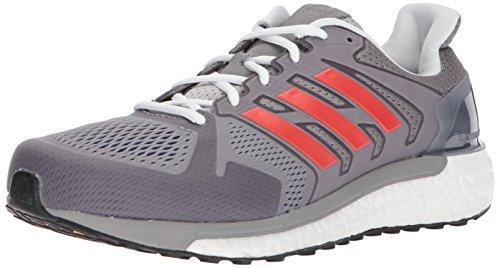 Adidas Supernova ST Aktiv - Zapatillas para correr, para hombre, Gris (Gris/rojo/azul rey universitario.), 45 EU