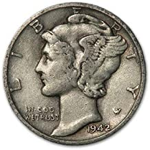 1942 S Mercury Dime XF Dime Extremely Fine