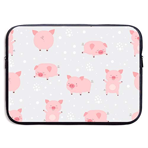 Gdiandianwang Cheerful Cute Little Cute Pigs Laptop Bags Compatible 13-15 Inch MacBook Pro,Ultrabook Netbook Tablet,Pringting Protective Briefcase Carrying Handbag Sleeve Case Cover
