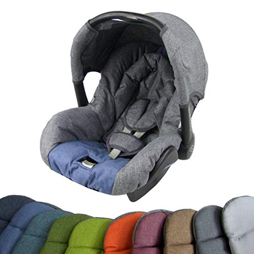 BAMBINIWELT Ersatzbezug für Maxi-Cosi CITI SPS 6-tlg, Bezug für Babyschale, Komplett-Set (grau-hellblau) XX