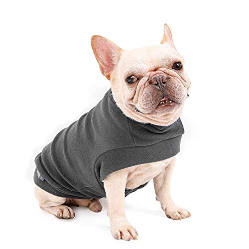 Dociote Hund Pullover - weiche und warm T-Shirt Hunde Frühling Kleidung Mantel Katzenpullover für kleine Hunde Katzen Grau S