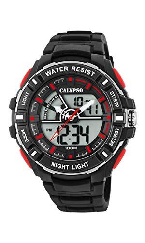 Calypso Watches Reloj Analógico-Digital para Hombre de Cuarzo con Correa en Plástico K5769/6