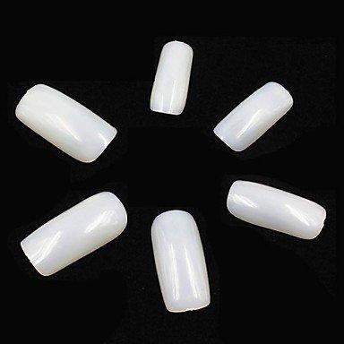 MZP 500 Stück natürliche weiße Acryl falsche UV Gel Voll französisch-Nagel-Kunst-Tipps für Fingernagel-Design DIY Malerei