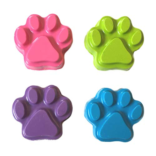 MinifigFans 48 Paw Print Pastel Crayons - Birthday Party Favors - 12 Sets of 4 - Made in the USA