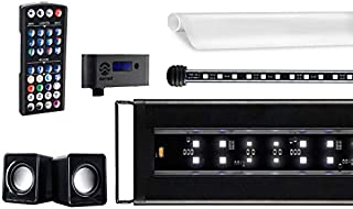 Current USA Serene Aquarium Visual and Audio Aquatic Experience Kit | LED Aquarium Light | LED Background Light | Wireless Remote | Speakers