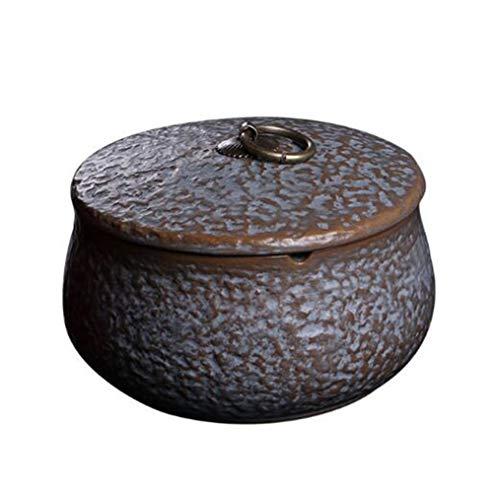 YAN^HUI^GANG asbak keramiek asbak creatieve retro persoonlijkheid woonkamer kantoor restaurant multifunctioneel huishouden thee slak cilinder