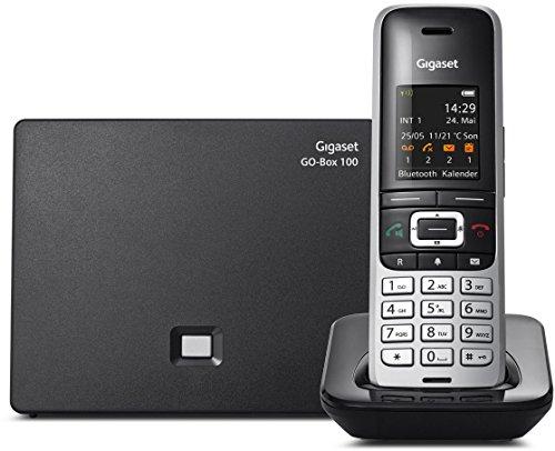 Gigaset S850A GO - Schnurlostelefon mit Anrufbeantworter , Platin-Schwarz
