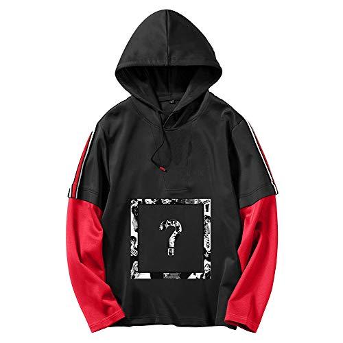 Xxxtentacion Pullover Suéter Casual con Capucha, Camiseta de Manga Larga, Elegante Jersey Estampado, Sudaderas Deportivas Unisex