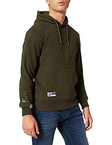 Superdry Mens M2011363A Expedition Emboss Hood, Surplus Goods Olive, XL