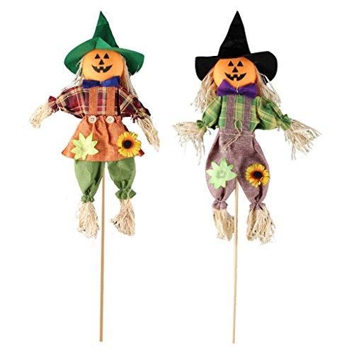 Ifoyo Spaventapasseri, Decorazione Autunnale, Di Halloween, Decorazione Per Il Giardino, La Terrazza O Il Portico 23.6In 2 Pack