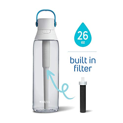 Brita 26 Ounce Premium Filtering Water Bottle with Filter BPA Free - Clear