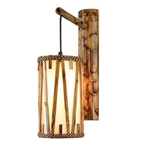 WHKHY Bambus-Retro-Wand, Balkon-Wandleuchten Boden-Schlafraum Künstlerische Bambus-Lounge Komfortleuchten der Freizeitwand E 27 Wandleuchte Flur 43 * 15 cm, 43 * 15 cm