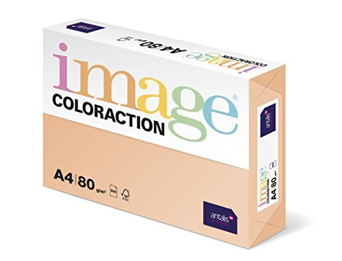 Antalis Coloraction Savana - Paper coloreado (500 folios, 80 g/m², para todo tipo de impresoras), color salmón