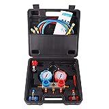 Taohou R134A HVAC A/C Kit de refrigeración Manifold AC Juego de manómetros Auto Service Kit-Black