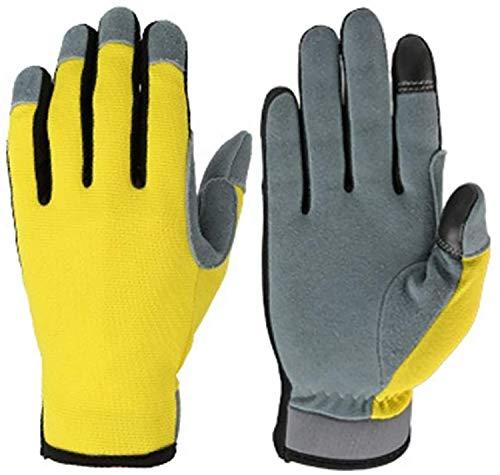 ZMYY - Guantes de trabajo para hombre y mujer, guantes de cuero duraderos y flexibles, perfectos para mecánicos, trabajo en general, jardinería, 1 par (M)