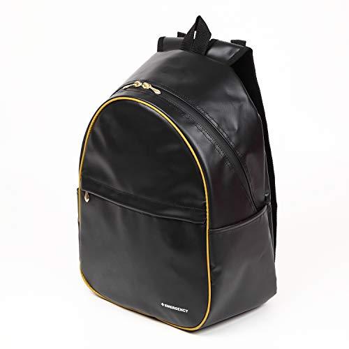 レディース防災リュック 女性用の非常持出袋(単品) 防炎防水素材 日本製 (ブラック)