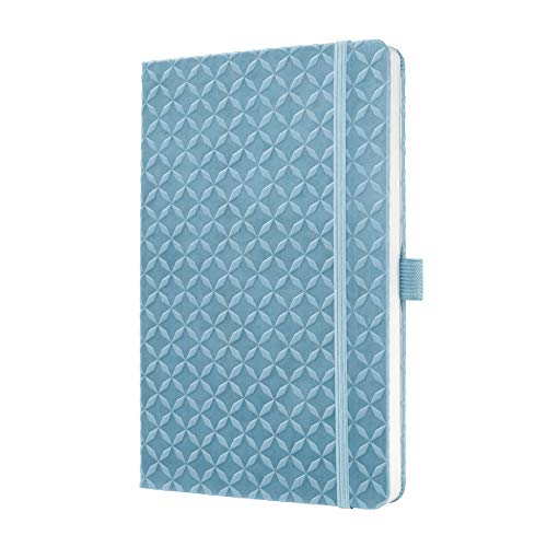SIGEL JN119 Notizbuch Tagebuch Jolie, ca. A5, liniert, Hardcover, Gummiband, Stifteschlaufe, Einsteckfach, Sky Blue, für Frauen und Mädchen - viele Modelle