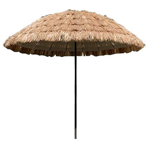 Sombrilla Jardin Sombrilla de Paja Tropical, Paraguas Impermeable del Patio de La Piscina de La Playa, para Sombrilla y Decoración Al Aire Libre, Parasol de Ø 7,5 Pies / 2,3 M