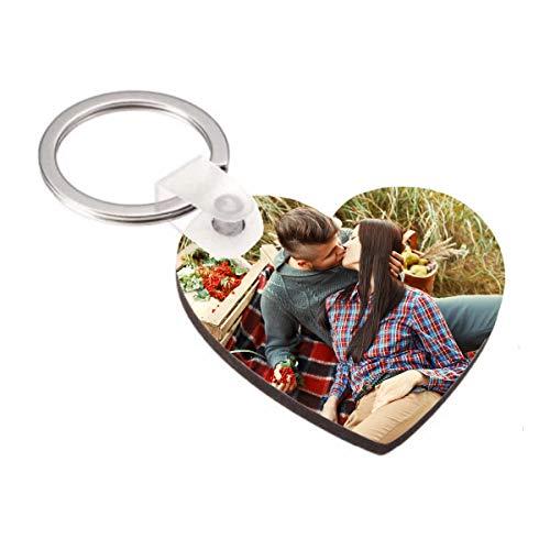 Kembilove Llavero Personalizado con Foto - Llavero con Foto Personalizado en Forma de corazón - Regalo Original para San Valentín, Aniversarios, Cumpleaños, Enamorados