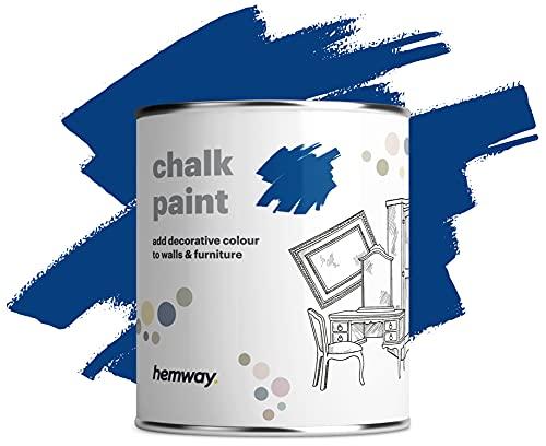 Hemway azul real tiza pintura mate acabado de la pared y la pintura de muebles 1L / 35 oz elegante lamentable de la vendimia calcárea (más de 50 colores disponibles)