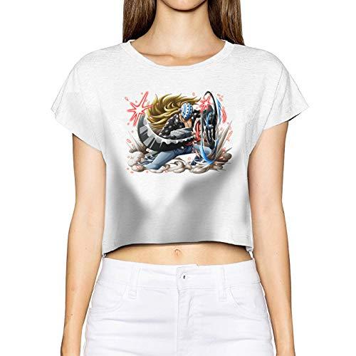 FXNOW Camiseta casual para mujer Killer of Kid Pirates O-N-E-Piece Crop Top Camisetas