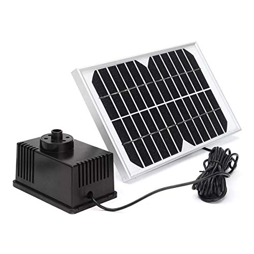 BJLWTQ Bomba de panel solar Brushless DC de agua con agua Outlet Caps Kits 12V 5W 280L / H, Panel Solar