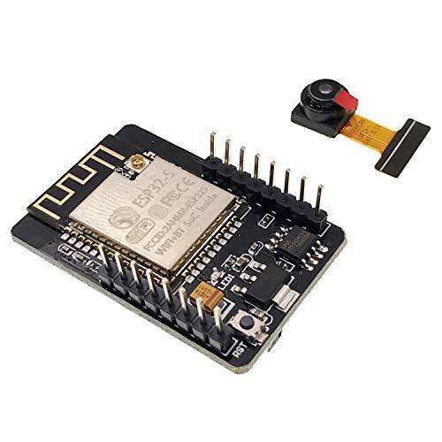 JZK Scheda ESP32 con lettore microSD e telecamera, modulo ESP32-CAM wifi, scheda esp32 camera per Arduino Raspberry Pi