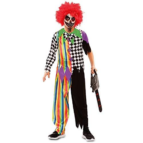 EuroCarnavales Déguisement de Clown Sinistre Multicouleur pour garçon