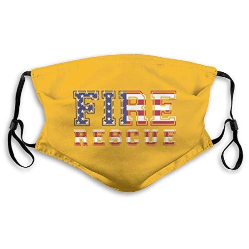 Mannen en vrouwen brandweer reddingsAmerikaanse vlag actieve koolfilter masker voor nevel