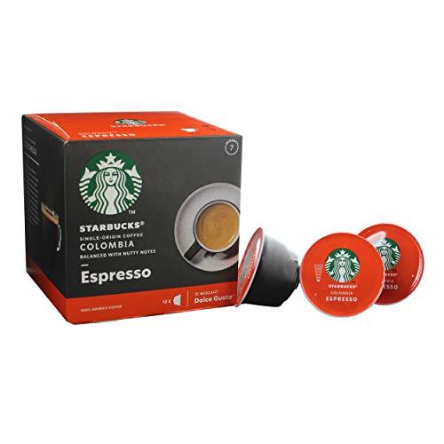 Starbucks Nescafé Dolce Gusto Colombia Espresso, Café, Café Tostado, Cápsulas de café, 12 Cápsulas