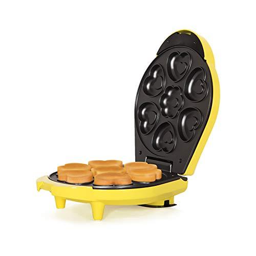 Vleesmolen keukenmachine wafelijzer met platen anti-aanbaklaag en cool touch met 7 vormen in één keer