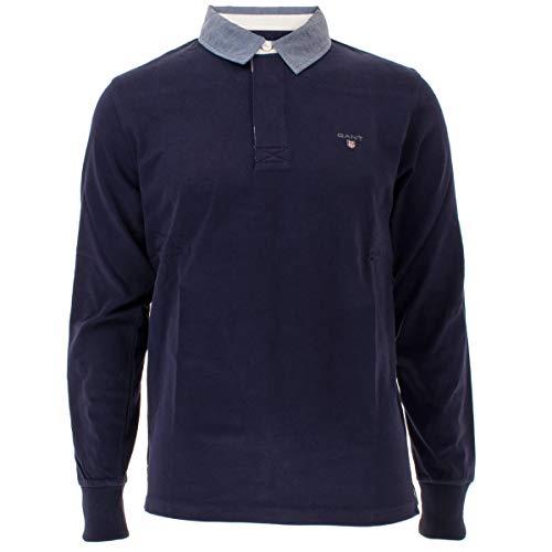 GANT The Original Heavy Rugger Polo, Azul (Evening Blue 433), Small para Hombre