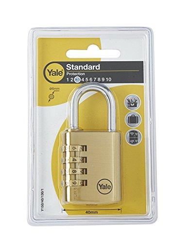 Yale Y150/40/130/1 Candado de Seguridad de Combinación, 40 mm