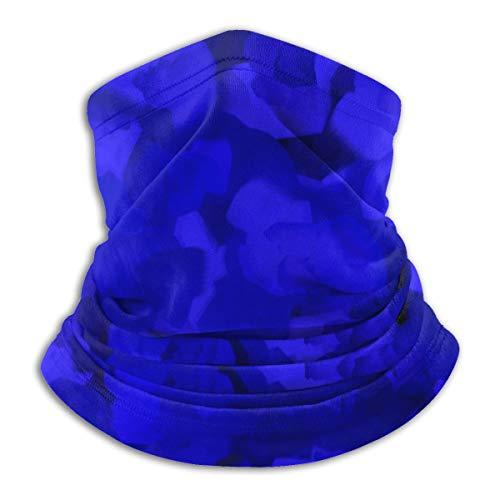 N/A Naadloos Gezichtsmasker Bandanas Nek Warmer Sjaal Gaiter Winddichte Mannen En Vrouwen, Rijke kobalt blauwe abstract_comforter