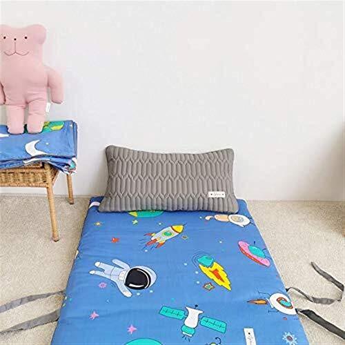 JKL J-Almohada Plegables Piso futón colchones, Cama de colchón, Rueda for Arriba el colchón Topper cojín for el Viaje, colchoneta portátil con Coevr Linda (Color : C, Size : 70x150cm(28x59inch))