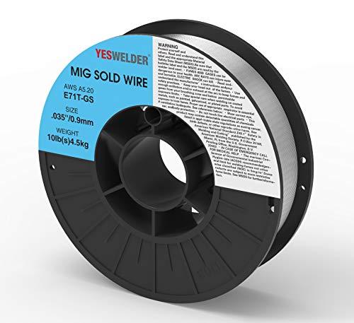 YESWELDER Flux Core Mig Wire, Mild Steel E71TGS.035-Diameter, 10-Pound Spool