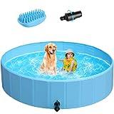 POTBY 32'' Foldable Pet Swimming Pool,...